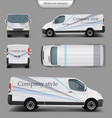 white minivan top front back side view vector image vector image