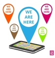 Phone map vector image