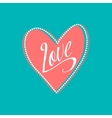 Wedding card with Love sign on turquoise vector image