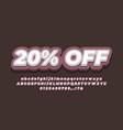 20 off sale discount promotion text 3d brown