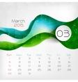 2015 Calendar March vector image
