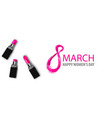 8 march happy womens fashion day vector image vector image