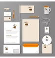 Abstract empty corporate identity template vector image vector image
