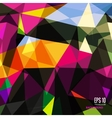 Abstract triangular background on bright colors vector image vector image