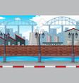 an urban factory scene vector image