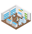 automated shop isometric composition vector image vector image