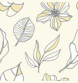 Beautiful tropical leaves and flowers pattern