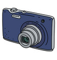 blue small simple digital camera vector image