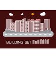 Building set red tone concept vector image vector image