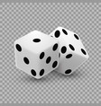 casino dice on a transparent background vector image