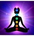 Chakras Meditation vector image vector image
