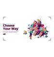 choose your way career development banner vector image vector image
