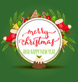 christmas merry xmas greeting card with vector image vector image