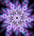 Christmas snowflake sign with aberrations vector image vector image