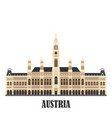 city hall in vienna austria vector image