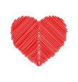 crosshatching valentines vector image