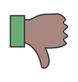 dislike line filled icon vector image vector image
