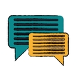 drawing bubble speech message discussion vector image vector image