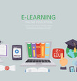 e-learning education school university vector image