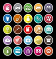 E wallet flat icons with long shadow vector image vector image