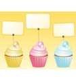 easter cupcake and label vector image vector image
