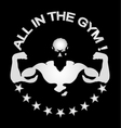 Everyone in gym and fitness room vector image