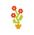 flower made of bright children s mosaic fun vector image vector image