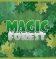 frame for text decoration enchanted forest with vector image vector image