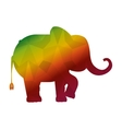 funny elephant circus icon vector image