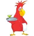 Funny Parrot Waiter
