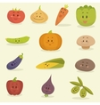 Funny Vegetables Flat Style vector image