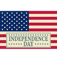 Happy independence day 4 th july greeting card vector image vector image
