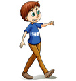 Happy man walking vector image vector image