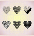 hearts on a pink background vector image vector image