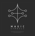 iconic esoteric symbol in white vector image vector image