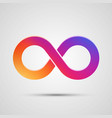 infinity symbol with color gradient vector image vector image