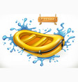 inflatable boat white water rafting 3d icon vector image vector image