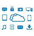 Internet cloud computing vector image