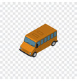 isolated bus isometric autobus element ca vector image