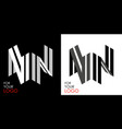 isometric letter n in two perspectives from vector image