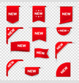 labels banners for web page new tags red badges vector image vector image
