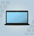 laptop electronic device technology vector image