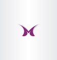 letter m symbol logo purple icon sign vector image vector image