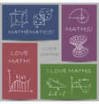 math doodles chalky vector image vector image
