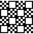 Monochrome checkered background with white squares vector image