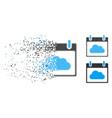 moving dot halftone cloud calendar day icon vector image vector image