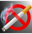 No smoking area label EPS 10 vector image