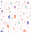 pastel party balloon pattern vector image