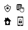 personal security simple related icons vector image