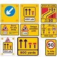 Road traffic work signs